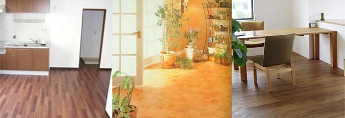 画像:居室・キッチン・リビング・廊下張替料金表